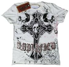 Amplified SAINT&SINNER Gótico Cross Calavera King Strass Rock Star