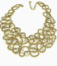 "R.J. GRAZIANO GOLDTONE DREAMWEAVER METAL SCROLL 16"" COLLAR NECKLACE HSN SOLD OUT"