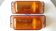 2x Universal Side Indicator Marker Light Lamp Orange Truck Lorry Van Bus E1 Mark