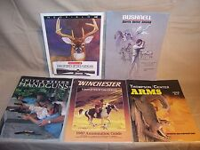 Vtg 5 Firearm Catalogs Winchester Thompson Center Arms Smith & Wesson Bushnell