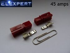 2 X ANDERSON POWERPOLE 45AMP ELECTRICAL CONNECTOR PLUG (RED)