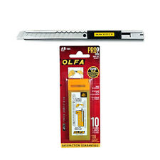 OLFA Stainless Steel Cutter SVR-1 & 9mm Stainless Steel Snap-off Blades AB-10S