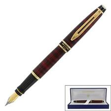 WATERMAN EXPERT DUNE RED & GOLD TRIM FOUNTAIN  PEN  MEDIUM POINT NEW IN BOX