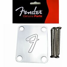 Genuine Fender placa de cuello-F Logo