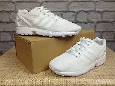 ADIDAS LADIES UK 5 EU 38 WHITE ZX FLUX TRAINERS FLORAL PUFF RRP £70