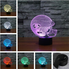 NFL San Francisco 49ers 3D illusion Night Light 7 Color Change LED Desk Lamp