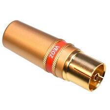 TV Aerial Coaxial Socket Female Screw Connector Adapter Coax Plug Gold Plated