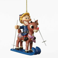 Jim Shore*SKIING RUDOLPH & HERMEY ORNAMENT*New 2016*Red Nosed Reindeer*4053076