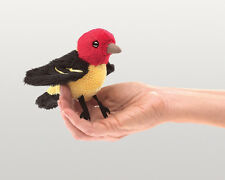 *NEW* PLUSH SOFT TOY Folkmanis 2763 Mini Tanager Pack Finger Puppet 15cm