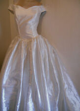 VERY STUNNING IVORY VINTAGE VICTORIAN STYLE WEDDING GOWN DRESS 8