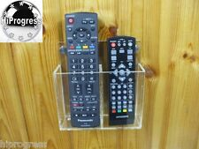 Double TV Television Cable Satellite Decoder Receiver Remote Control Wall Holder