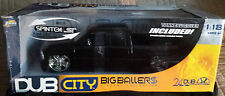 Jada Toys DUB City Big Ballers 1 18 Chevrolet Silverado Black Model Car In Box