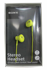 Sony LIME STH30 Waterproof Stereo Headset Headphones Water Resistant Earphones