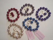 Set of 5 Simulated Pearl Bracelet and Earring Sets Garold Miller QVC