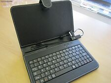 "Black 7"" Keyboard PU Leather Case/Stand for Samsung Galaxy Tab 2 GT-P3113"