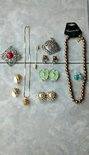 Vintage Costume Jewelry, Earrings, Necklaces, Sarah Coventry Brooch & Misc
