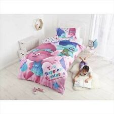 SINGLE BED TROLLS QUILT DOONA COVER SET & PILLOWCASE GIFT GIRLS BOYS