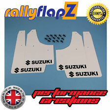 Schmutzfänger Suzuki Swift Weiß 3mm PVC Schwarz Logo Schlamm Klappen Gen 2 08-10
