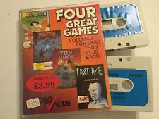 4 COMMODORE 64 C64 CASSETTE TAPE GAMES FROSTBYTE + PYJAMARAMA +PHANTOM +TOP DUCK