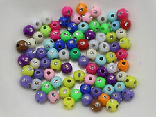 1000 Mixed Colour Sparkling Silver Dots Acrylic Round Beads 5mm Spacer Beads