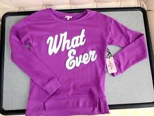 Juicy Couture Pink ish Purple French Terry Sweatshirt  What Ever   Size S   NWT