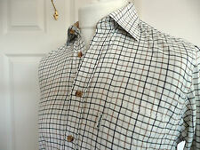 Barbour Cream Country Check Shirt S Small