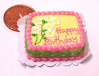1:12 Scale Oblong Birthday Cake Dolls Miniature House Kitchen Food Accessory SC8