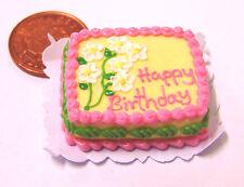 1:12 Échelle Oblong Gâteau D'anniversaire Poupées Miniature Maison