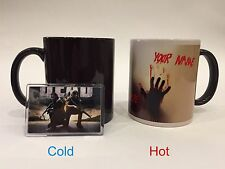 WALKING DEAD PERSONALIZED  Magic Color Changing Coffee, Tea Mug with magnet