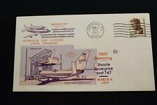 SPACE COVER 1977 MACHINE CANCEL SHUTTLE 747 CARRIER JET 1ST DEMATING (3798)