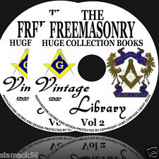 845 Masonic Library  Freemasonry Freemason Vintage Books 4800 Images ON 2 DVDS