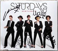 THE SATURDAYS * GENTLEMAN * UK CD w/ SIGNED SLEEVE * HTF! LIVING FOR THE WEEKEND