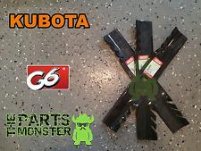 """3 Oregon 396-812 G6 Blade Set Replaces Kubota: K5351-34342, K5351-99040 54"""" Deck"""
