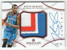 2012-13 Immaculate Kevin Durant Auto Patch RED #20/25