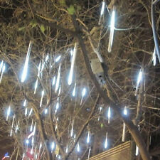 30cm 144 LED Lights 8 Tubes Meteor Shower Rain Snowfall Tree Garden XMAS Outdoor