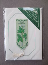 BOOKMARK Cash's Woven Wood Anenome Wild Flowers Greetings Card Unused 1990s