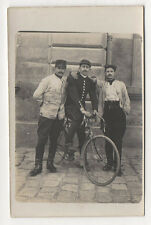 PHOTO CARTE Transport Vélo de course Cycliste Soldat Militaire Vers 1920