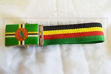 DOMINICA drapeau noir jaune vert ceinture roots & culture
