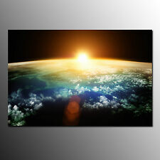 Framed Canvas Art Prints For Living Room Sun And Earth Wall Art Canvas Painting