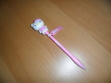 Sanrio Hello kitty pink  red & blue flashing light up black ink pen w diecut fig