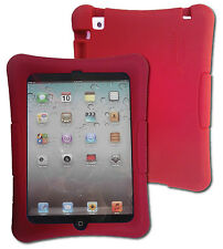 Kid Friendly Protective Silicone Shell Case for iPad mini (Red)