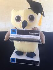 "NEW Graduation Owl Autograph Pals Cap Gown NIB WITH PEN Appx 9"" Tall"