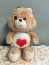Vintage 1983 Kenner CARE BEARS Tenderheart Bear Plush XL 16.5""
