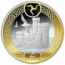 Isle of Man 2017 Tower of Refuge Uncirculated £2 Bi-Metal Coin