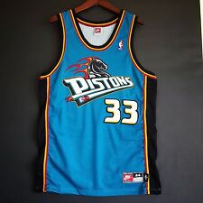 100% Authentic Grant Hill Detroit Pistons NBA Nike Jersey Size L 44