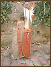 Schöner Rücken- Pfeilköcher für Kinder echt Leder in Handarbeit gefertigt