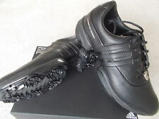 MENS ADIDAS GOLF SHOES RARE 'PORSCHE GOLF II' UK7 EU40 2/3 BLACK LEATHER 021792