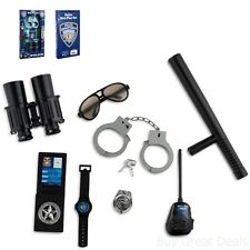 Police Officer Security Guard Equipment Handcuffs Kids Role Play Toys New