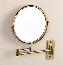 """Antique 8"""" Double Side Folding Brass  Makeup Mirror with 3x Magnifying"""