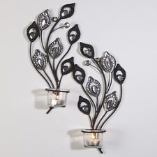A PAIR WALL TEA LIGHT HOLDER CANDLE DECORATIVE HOME